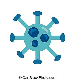 covid19 particle flat style icon vector illustration design