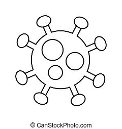 covid19 particle line style icon vector illustration design