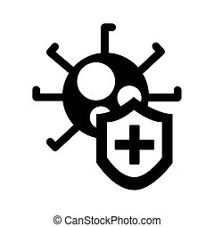 covid19 virus particle silhouette style vector illustration ...