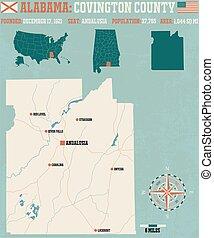 Covington County in Alabama USA