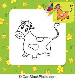 cow., 着色, 漫画, ページ