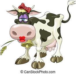 Cow - A pretty cow with a bow