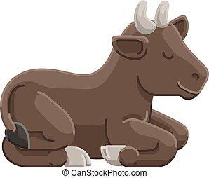 Cow Animal Cartoon Character