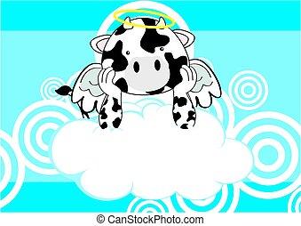 cow baby cute angel cartoon