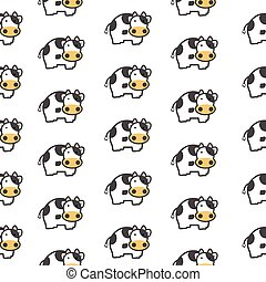 cow background seamless