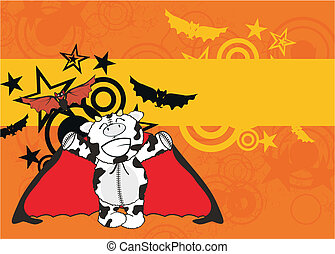 cow  bat cartoon background