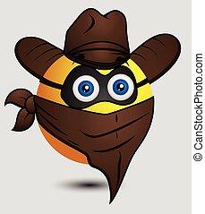 Cow Boy Super Hero Emoji