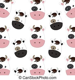 cow cartoon background