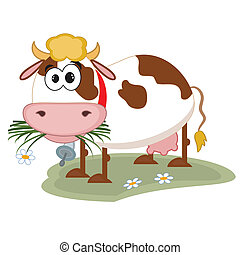 Cow cartoon.