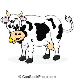 Cow - Cartoon illustration of a happy cow smiling