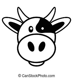 Cow Cartoon - Simple cartoon of a cute cow