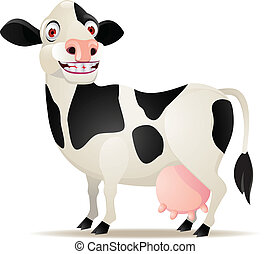 Cow cartoon smiling - Funny cow cartoon smiling