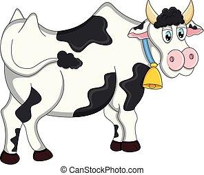 Cow cartoon vector illustration