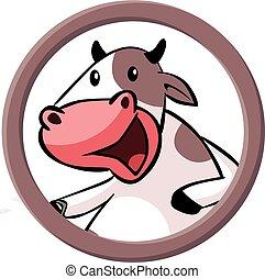 Cow circle banner