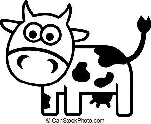 Cow comic outline