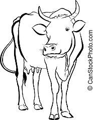cow. cow farm. cow animal. cow vector silhouette