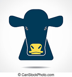 cow creative face