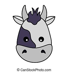 cow face animal