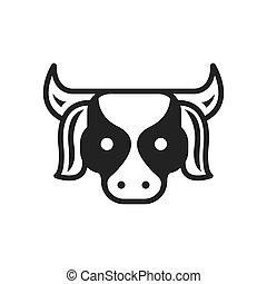 Cow Farm icon black color