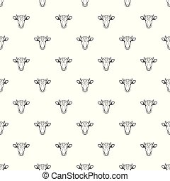 Cow head vector pattern seamless