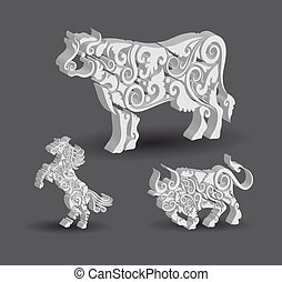 Cow, Horse, Bull Decorations