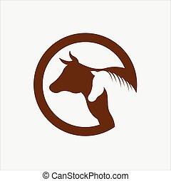 Cow & Horse vector