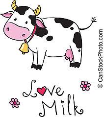 cow. i love milk