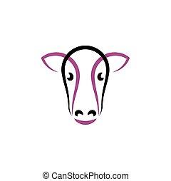 cow icon symbol vector sign element