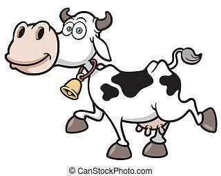 Cow - Vector illustration of Cartoon Cow