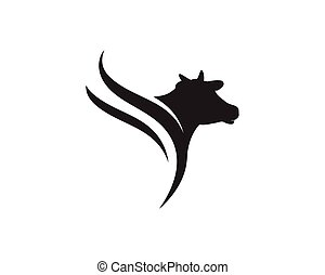 Cow Logo Template vector icon illustration design