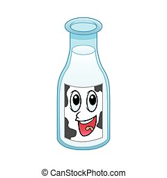 cow milk bottle character