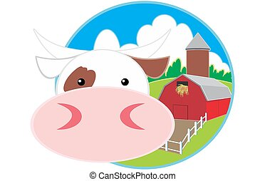 cow milk concept