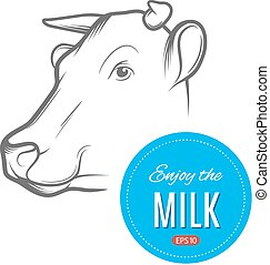 Cow milk logo