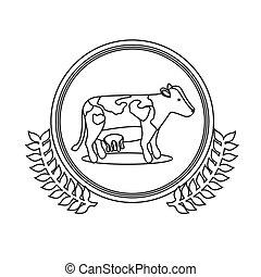 Cow milk symbol icon vector illustration graphic design
