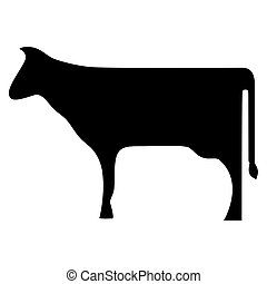 Cow or Bull Silhouette