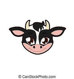 Cow portrait illustration