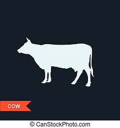 Cow silhouette - cattle symbol