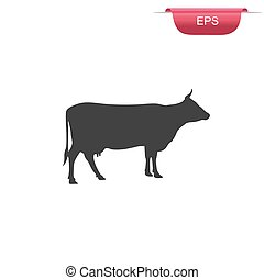 Cow silhouette, icon, design elemen
