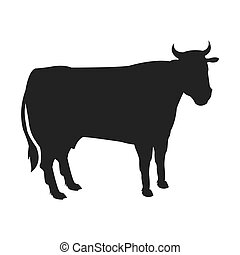 cow silhouette icon