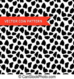 Cow skin vector seamless pattern