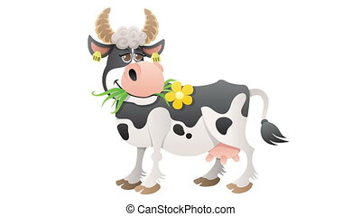 Cow - Cartoon cow isolated with alpha channel.