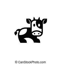 cow vector icon side view