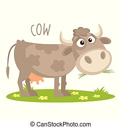 Cow Vector illustration isolated