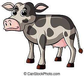 Cow with happy face