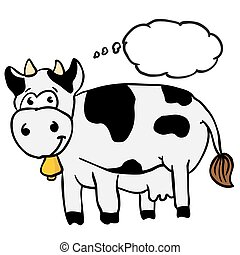 cow with thought bubble
