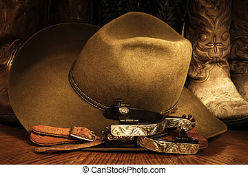 Cowboy Accessories - Cowboy or western themed image of a...