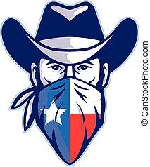 cowboy-bandana-texas-flag-FRNT-MASCOT - Mascot icon ...