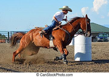 Cowboy Barrel Racing