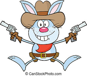 Cowboy Blue Rabbit