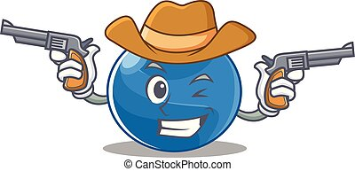 Cowboy blueberry character cartoon style